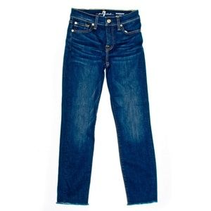 7 For All Mankind Roxanne Ankle Jeans Frayed
